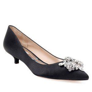 Size 7 Badgley Mischka Vail Black Kitten Heel Pump